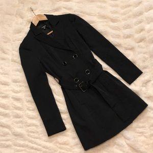 Bebe black dress trench